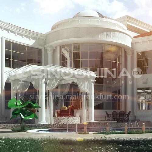 Exterior design - classic villa exterior ECS1050