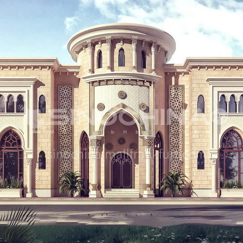Exterior design - Arabian style villa ECS1053
