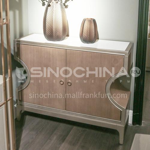 BJ-M802 American light luxury solid wood shoe cabinet, entrance decoration cabinet, entrance cabinet
