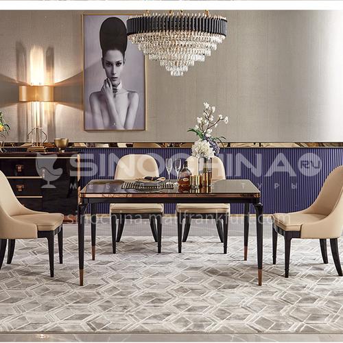 BJHG-M5 Light luxury dining room long dining table, modern living room dining room baking paint light luxury fashion dining table M5DT