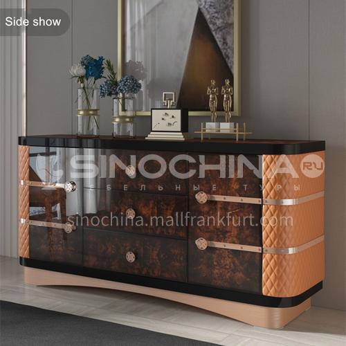 BJHG-M6 Light Luxury Dining Sideboard Post Modern Living Room Dining Sideboard Painted Light Luxury Fashion Sideboard M6 SC