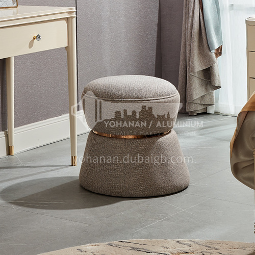BJHG-M801 Nordic American round fabric sofa and stool for bedroom
