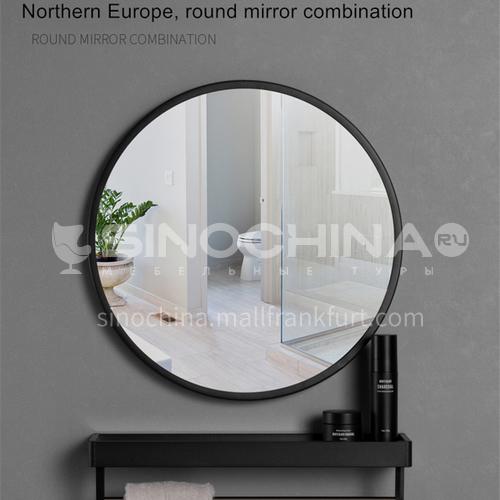 BJ-M3- Nordic minimalist style, European style wall mirror for bathroom, round makeup mirror, Nordic minimalist makeup mirror