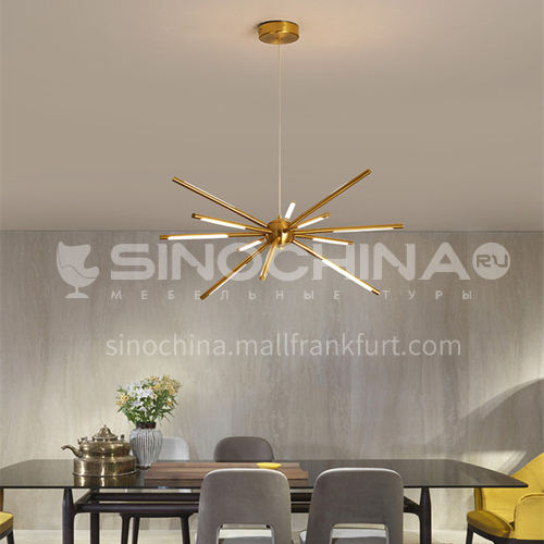 Golden Living Room Chandelier Simple Modern Atmosphere Household Lighting Nordic Dining Room Lamp Bedroom Lamp-YMR-Y2060 gold color