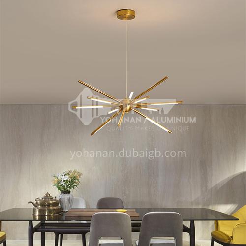Golden Living Room Chandelier Simple Modern Atmosphere Household Lighting Nordic Dining Room Lamp Bedroom Lamp-YMR-Y2060 gold color