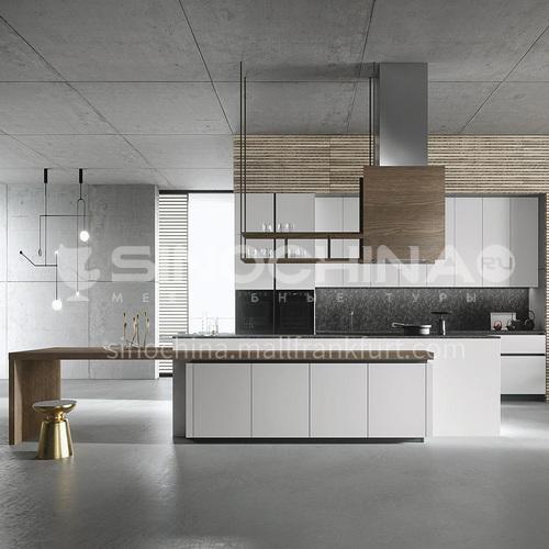 Modern kitchen simple design melamine with particle board kitchen-GK-609