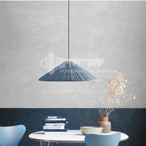 Bar table dining room lamp single head chandelier bedroom bedside bay window porch aisle Nordic macarons chandelier-MDZG-YGP148
