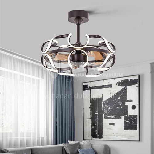 Fan Light Ceiling Room Simple Energy Saving Nordic Art Round Creative Light Luxury Fan Light-KBS-19215