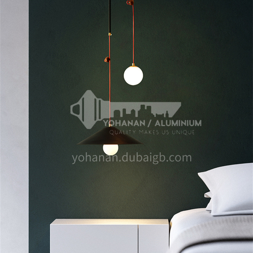 Bedside chandelier Nordic style long-line chandelier bedroom light modern minimalist creative lighting-MDZG-YGP307