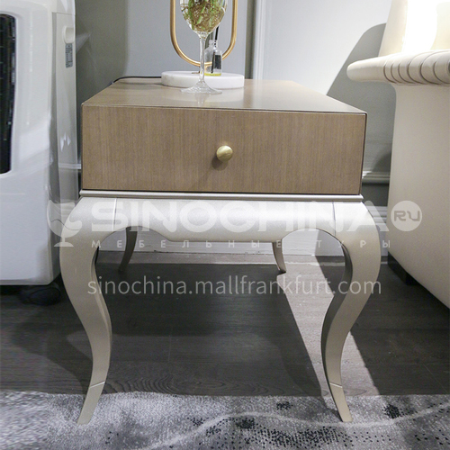 BJ-M103-American side a few corners Meike small coffee table light luxury sofa Meijia simple retro high table round the same paragraph living room solid wood