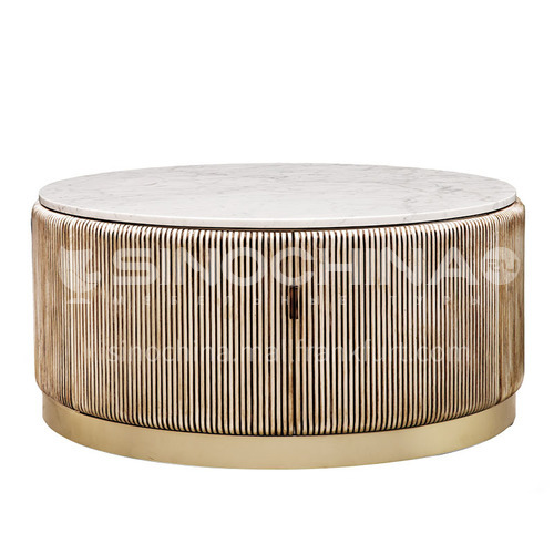 BJ-M109-Nordic solid wood round table light luxury living room round coffee table