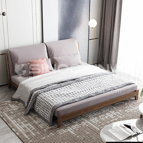 CL-107-180.150.120 Living room minimalist modern flannel sofa bed + ash wood frame + high resilience sponge + doll cotton