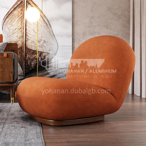 CL-YX101 Living room minimalist modern Italian high-density sponge + solid wood foot flannel lounge chair