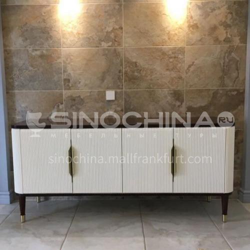 BJ-M109-Living room high-end Han Palace Nordic American German red beech hardware handle floor cabinet