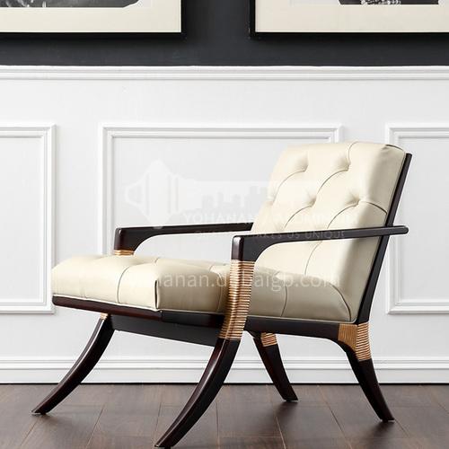 BJ-M102-Living room bedroom nordic buckle backrest Italian lounge chair