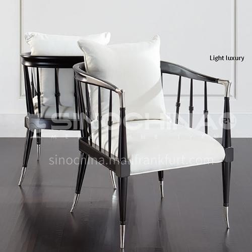 BJ-M806-Living room bedroom high-end hardware shelf Nordic Italian leisure chair