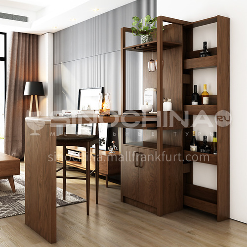 CL-BA04 AC033 Living room modern minimalist ash wood frame partition cabinet
