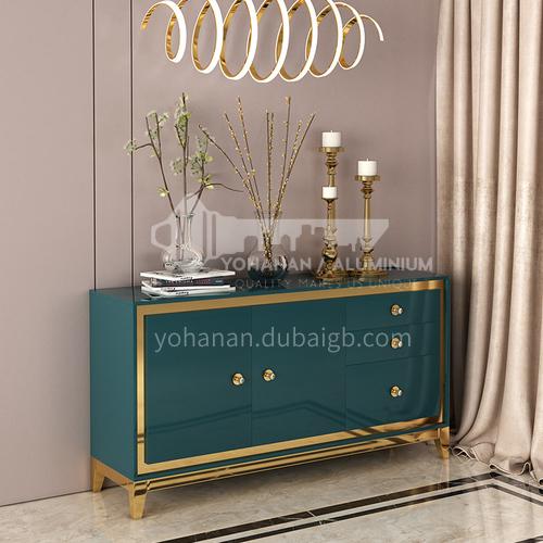 HH-424SC Light luxury living room Italian minimalist rock board coffee table TV cabinet side table combination light luxury dining side cabinet 424SC