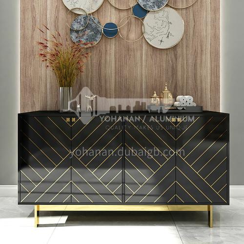 HH-445SC Light luxury living room Italian minimalist rock board coffee table TV cabinet side table combination light luxury dining side cabinet 445SC