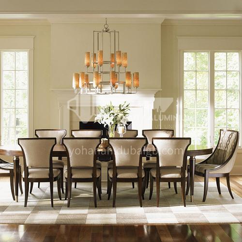 BJ-M109 American furniture custom solid wood rectangular dining table 6 seats 8 seats restaurant dining table