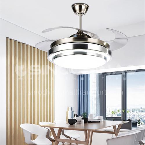 Ceiling fan light living room dining room household fan chandelier simple modern fan light invisible fan light-KBS-Y4203