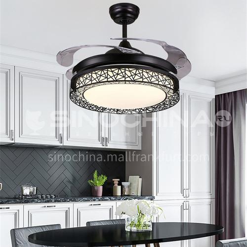Fan light invisible modern minimalist dining room bedroom fan chandelier living room household fan light-KBS-Y4228