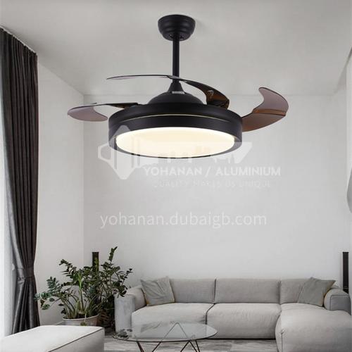 Ceiling fan light living room dining room home bedroom fan light simple modern invisible fan light-y4296-3-36