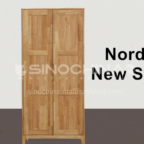 XDD-YF-12- Nordic minimalist style, walnut cabinet, embedded handle, high-quality door hinges, Nordic wardrobe
