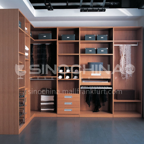 Modern Double melamine with particle board Cloakroom GW-369