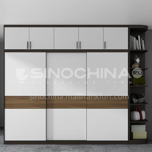 Modern Style melamine with particle board Sliding Door Wardrobe GW-374