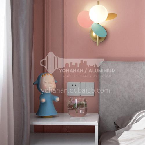 Modern minimalist wall lamp Nordic style bedside bedroom wall lamp-MDZG-YGW087