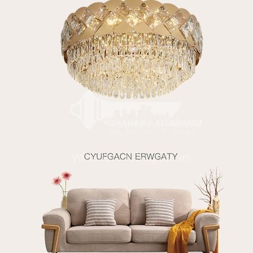 Crystal lamp living room lamp led ceiling lamp modern light luxury European round bedroom lamp JBS-18086