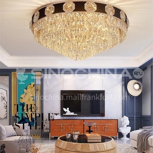 Crystal lamp living room lamp led ceiling lamp modern light luxury European round bedroom lamp JBS-18088