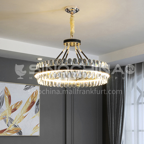Crystal high-grade black chandelier living room dining room bedroom simple LED Nordic modern lamps-TB-6801