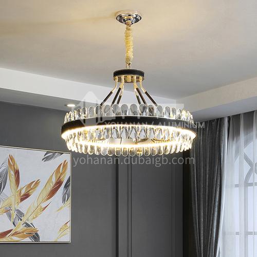 Crystal high-grade black chandelier living room dining room bedroom simple LED Nordic modern lamps-TB-6801