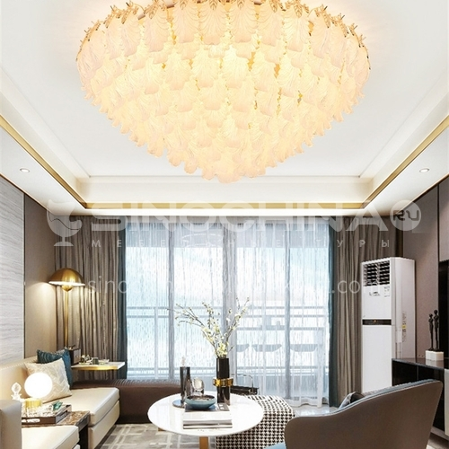 Crystal lamp living room lamp led ceiling lamp modern light luxury European round bedroom lamp JBS-18118