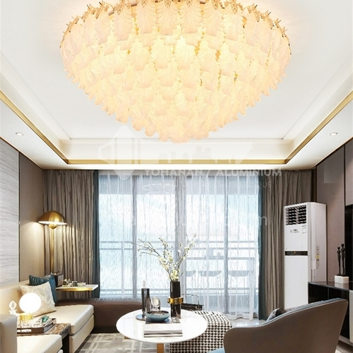 Crystal lamp living room lamp led ceiling lamp modern light luxury European round bedroom lamp JBS-18118