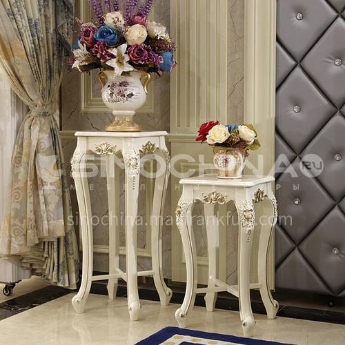 BJ-HJ002 Living room entrance high-end European classical flower stand + hand-carved + Thai imported oak