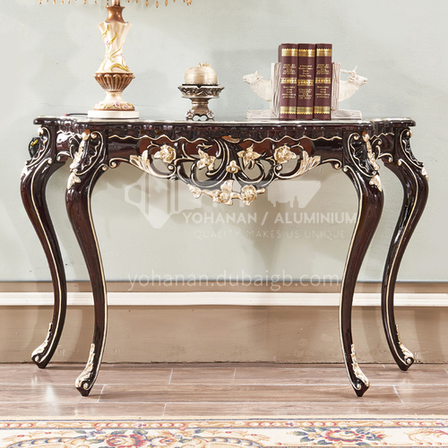 BJ-XG01 living room entrance cabinet high-end European classical + hand-carved + Thai imported oak