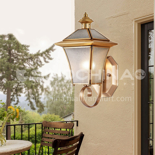 European style copper outdoor wall lamp waterproof courtyard aisle balcony exterior wall staircase wall lamp-PLM-020