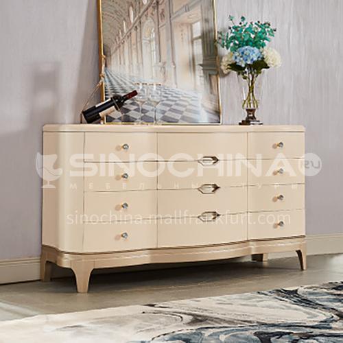 BJ-M801, M806 American light luxury dining side cabinet solid wood post-modern minimalist living room porch cabinet in-home dining room cabinet side cabinet