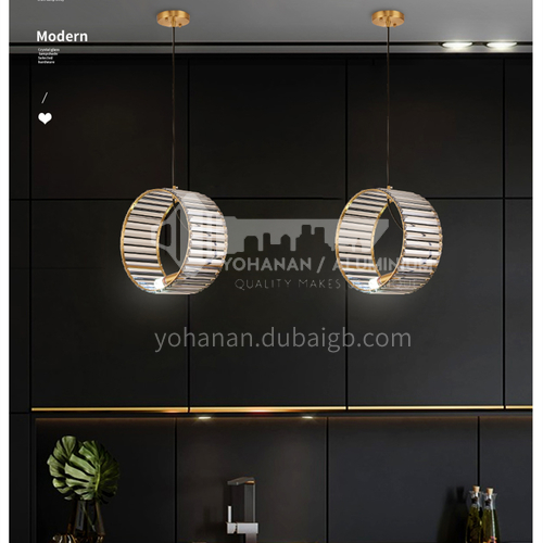 Light luxury chandelier modern crystal lamp Nordic simple living room dining room chandelier bedroom LED lamp SHMY-8939