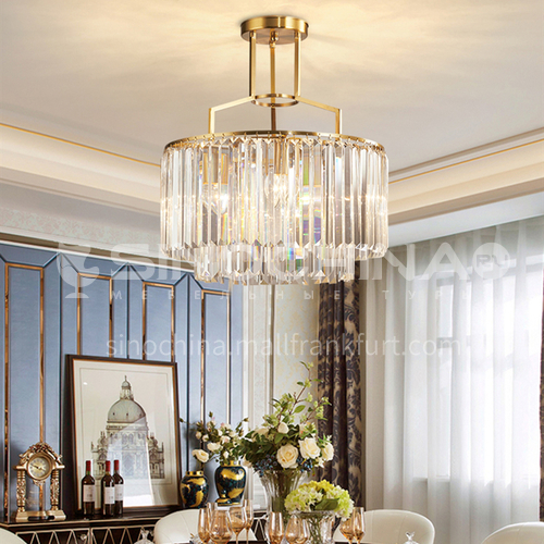 Light luxury chandelier modern crystal Nordic minimalist living room lamp dining room bedroom LED lamp-SHMY-8942