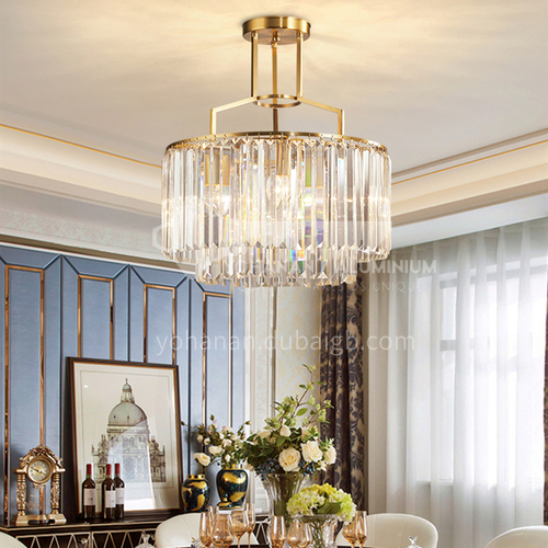 Light luxury chandelier modern crystal Nordic minimalist living room lamp dining room bedroom LED lamp-SHMY-8942