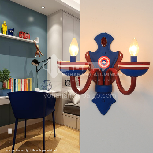 Captain America boy and girl bedroom lamp cartoon creative personality led American room lamp-DDBE-W-1368-2
