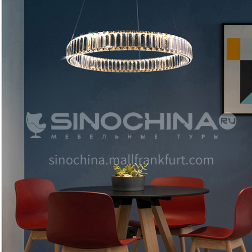 Light luxury chandelier modern minimalist crystal lamp living room atmosphere dining room lighting-TB-6865
