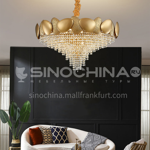 Crystal Modern Light Luxury Chandelier Creative Living Room Bedroom Dining Golden Lamp-TB-A6885