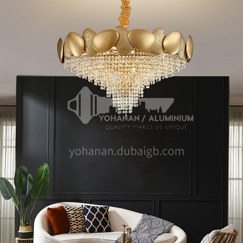 Crystal Modern Light Luxury Chandelier Creative Living Room Bedroom Dining Golden Lamp-TB-A6885