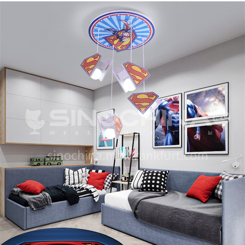Cartoon led bedroom chandelier living room room creative light-DDBE-P-1509