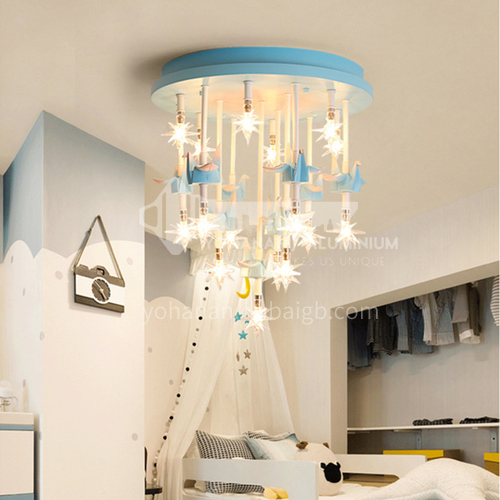 Bedroom Ceiling Light Nordic Star Simple Paper Crane Cartoon Room Light-DDBE-P-1524